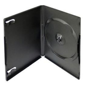 Krabička na 1ks DVD černá InHouse DVD-1B, tloušťka 14mm
