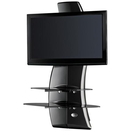 Meliconi Ghost Design 2000 Carbon, Televizní stojan a 2 poličky + Čistící sada pro TV ZDARMA!