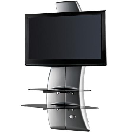 Meliconi Ghost Design 2000 Silver, Televizní stojan a 2 poličky + Čistící sada pro TV ZDARMA!