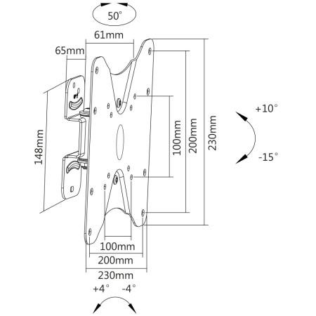 """InHouse MKF-E1451 naklápěcí a kloubový držák na TV s úhlopříčkou 23""""- 42"""" Nosnost 25 Kg"""