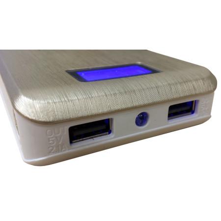 Nabíječka InHouse MKF-PB12000 Qi LCD Bezdrátová indukční přenosná nabíječka s výstupem USB