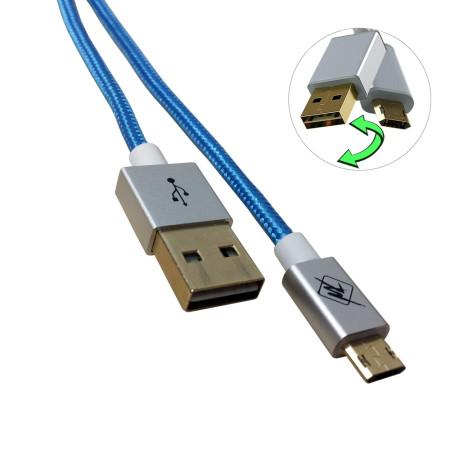 InHouse MKF-Reversible USB/ Micro USB Gold 1,2 BL, modrý