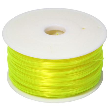 Filament MKF-PLA F1.75 průsvitná žlutá, Tisková struna PLA 1,75 mm 1Kg pro 3D tiskárnu