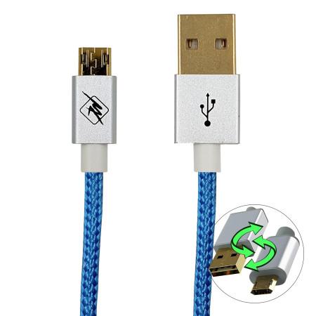 InHouse MKF-REV12BL USB-Micro USB, propojovací kabel, 1,2 m, modrý