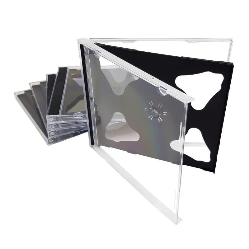 InHouse CCDR2-5T Krabička na 1ks CD/DVD, transparent, balení 5ks