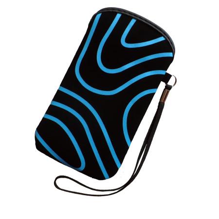 Pouzdro InHouse Flexi Stripes Case černo modré pro mobil