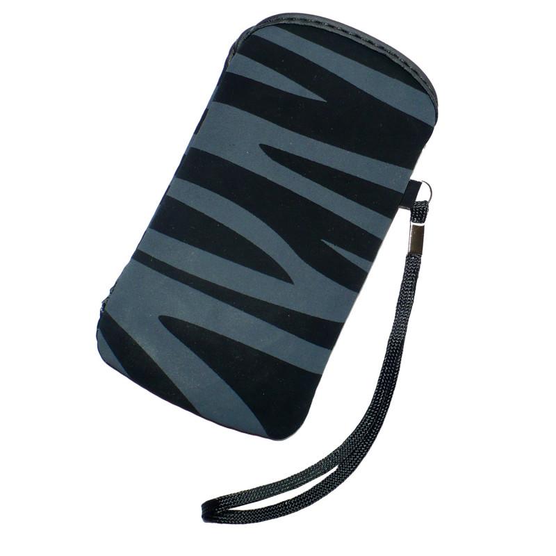 Pouzdro InHouse Flexi Zebra Case černo šedé pro mobil