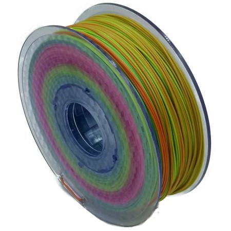 MKF Filament MKF-PLA F1.75 Gradient - duhový mix barev, Tisková struna PLA 1,75 mm 1Kg pro 3D tiskárnu