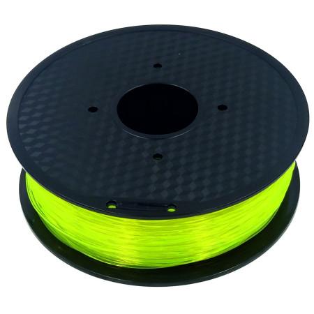 MKF Filament MKF-PETG F1.75 transparent žlutá, Tisková struna PETG 1,75 mm 1 Kg pro 3D tiskárnu
