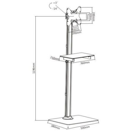 MKF-PNO145STV Televizní stojan pro LCD a LED TV