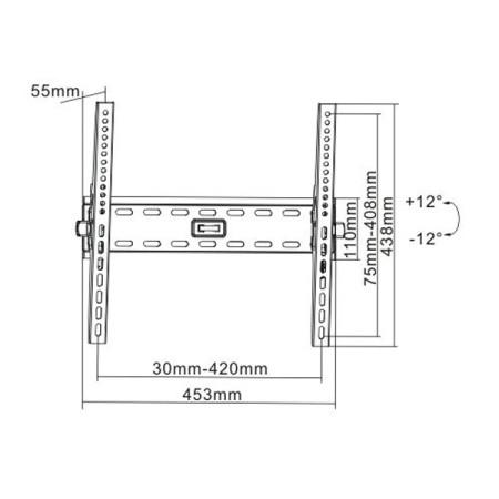 """InHouse MKF-EN1310 náklopný držák na TV s úhlopříčkou 32""""-55"""", Nosnost 50 Kg"""