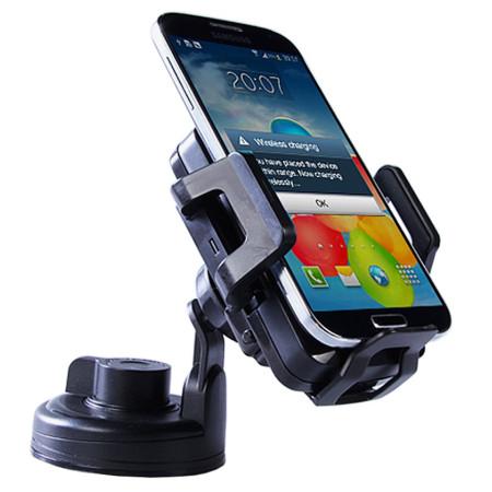 InHouse držák do auta s bezdrátovým nabíjením MKF-CW1 Qi černá pro mobilní telefony