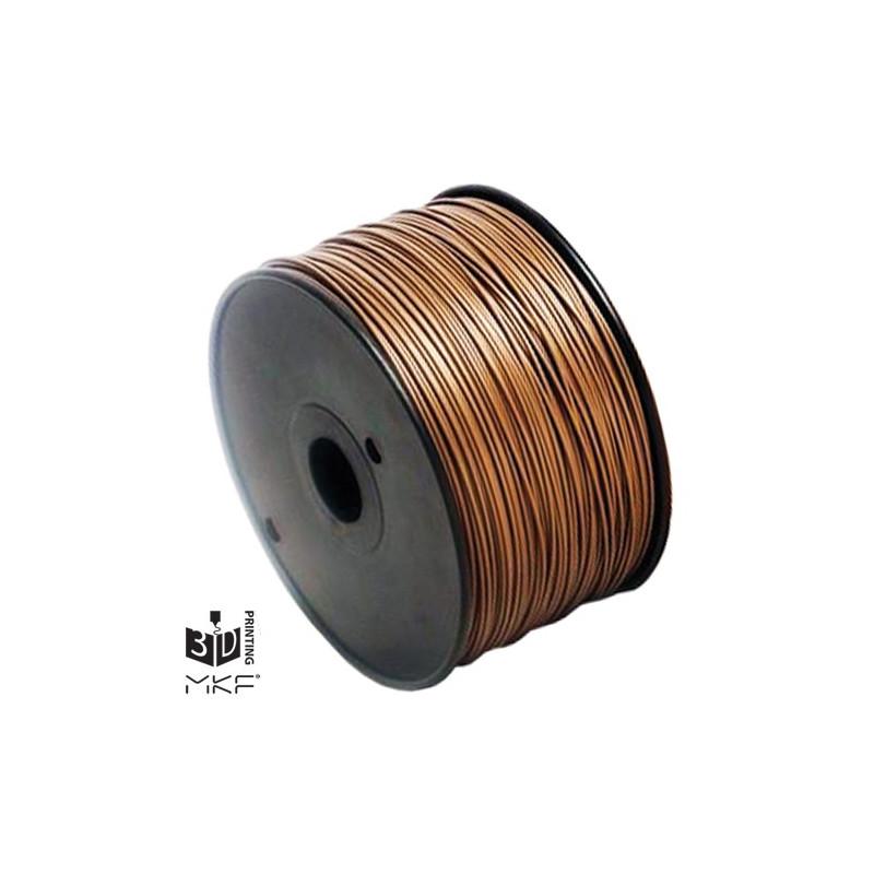 MKF Filament MKF-ABS F3.0 hnědá, Tisková struna ABS 3,0 mm 1 Kg pro 3D tiskárnu