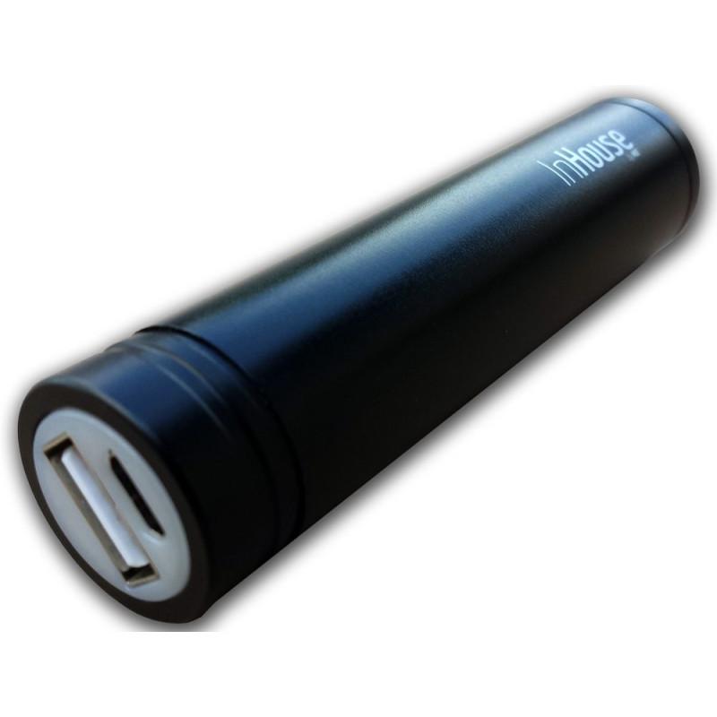 InHouse Power Bank MKF-PBS02B Black, 2200mAh, USB výstup 5V/1A