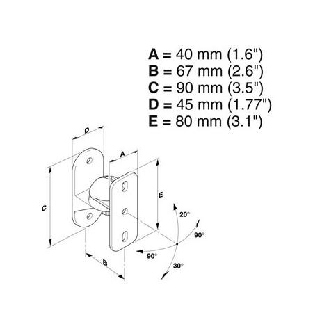 Meliconi Sound 50 platina Držák na reproduktory z řady Space System
