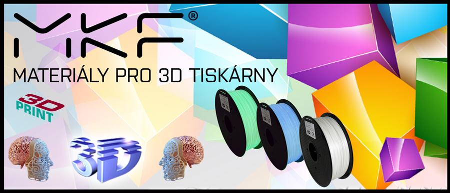 D tisk a materiály pro 3D tiskárny od značky MKF