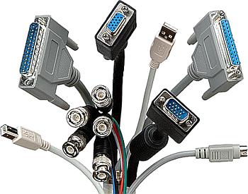 Propojovací kabely, VGA, USB, LPT