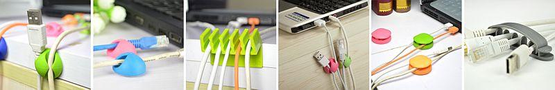 kabelový organizér, USB na stůl