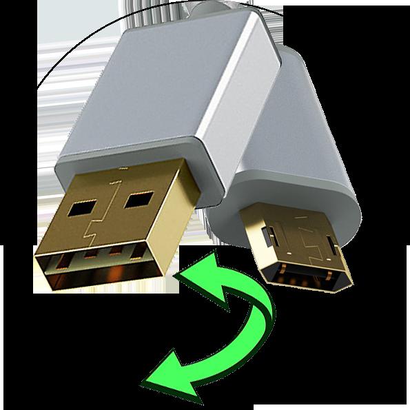 InHouse MKF-Reversible USB/Micro USB 1,2 Gold